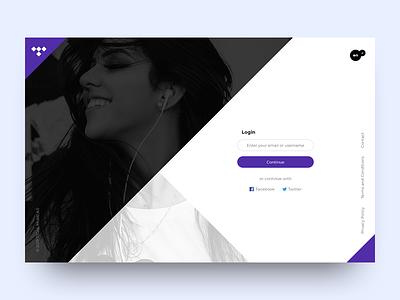 DailyUI webdesign uiux tidal design dailyui app