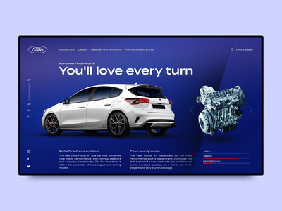 Ford Focus ST ford automotive poland ux layout ui website design