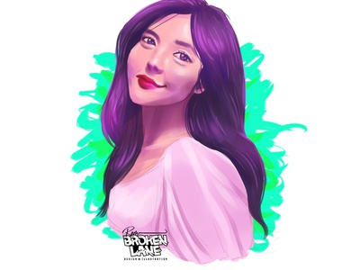 MS PURPLE digitalart digitalportrait digital painting illustration