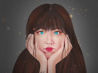 CUTEEEE digitalportrait digitalart digital painting illustration