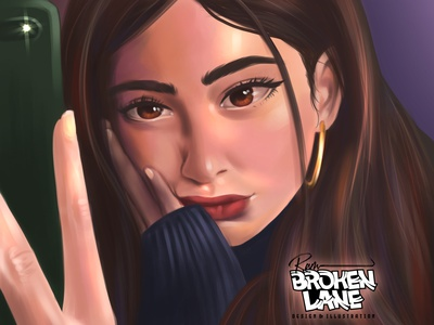 selfie digitalportrait digitalart digital painting illustration