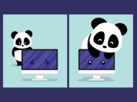 Virtual Hug vector illustration vector art flat illustration vector graphic design