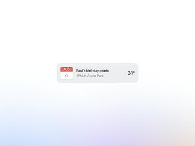 Calendar Weather Widget motion color palette 14 minimal clean date user interface uiux ui icons icon design widget weather calendar design