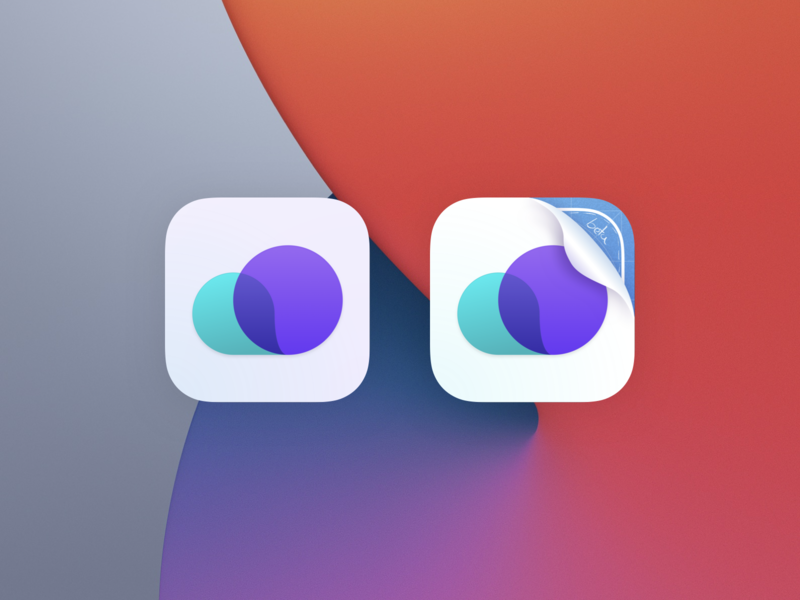 WeatherKit App Icon (iOS 14 & Big Sur) beta ux ui iphone minimal ios app clean gradient weather app icon big sur 14 ios