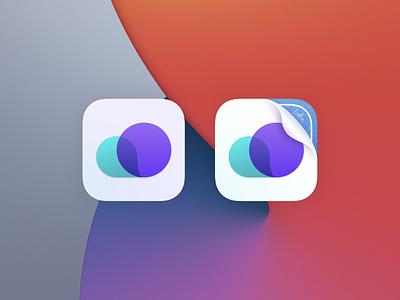 WeatherKit App Icon (iOS 14 & Big Sur) beta ux ui iphone minimal ios app clean gradient weather app icon big sur 14 ios