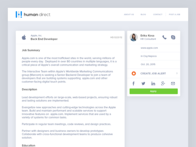 Job Post — UI