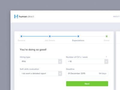 ⚡️ Hiring Process UX gif page landing clean app web button steps process dashboard ux ui
