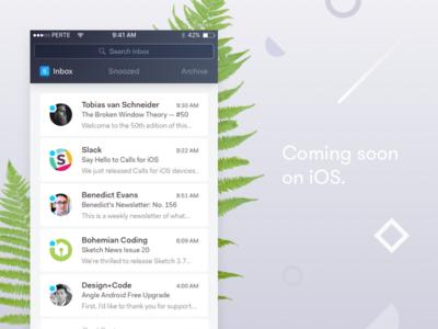 Primavera freelance web ux ui navigation mail list ios gradient email client app