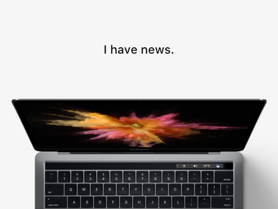 I have news.  aerium imac app widget apple minimal ux ui web macbook news
