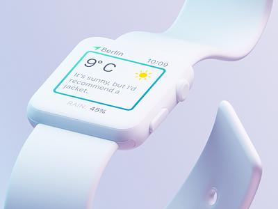 Aerium @ Apple Watch clean minimal white freelance design ux ui apple ios app extension watch
