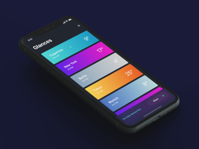 City Cards mobile product design freelance interaction gesture ux ui ios 11 10 x iphone x