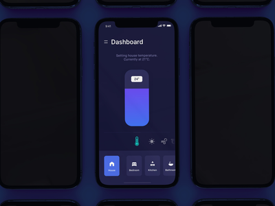 teczu - Smart Home Automation ui dark mac cards automation control iphone android 12 smart home app ios