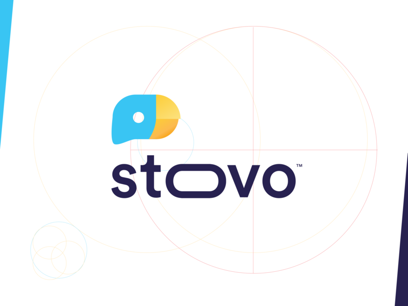 Stoovo - Branding trademark apple app store google process ui ux brand family agency startup clean award mobile branding app typography gradient design bird symbol sign visual style guide logo mark design app store icon