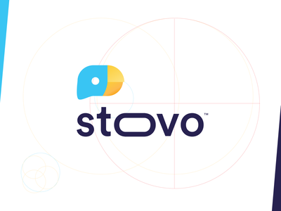 Stoovo - Branding trademark apple app store google process ui ux brand family agency startup clean award mobile branding app typography gradient design bird symbol sign visual style guide logo mark design app store icon