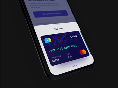 The Stoovo Card UI pattern ios iphone interface stoovo freelance design bottom sheet ux ui commerce payment fintech finance card