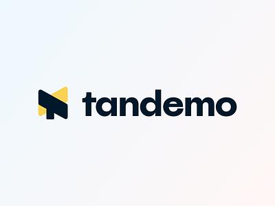 tandemo - visual identity freelance design minimal app logo identity visual branding clean softhaus platform education