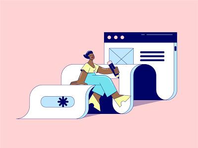 I'm a UI girl vector illustrator artist illustration artwork design