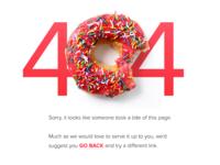 UI Element Challenge -- Day 033 404 Error web error 404 error 404 daily challenge ui design ui