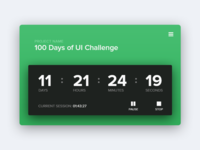 UI Element Challenge -- Day 095 Time Tracker