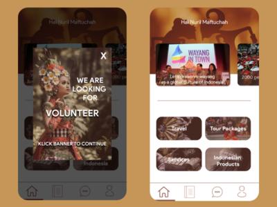 App for promote traditional culture design indonesia social app culture ui design app design ui app