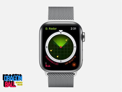 Dragon Ball 🐉⭐️— Dragon Radar dark mode fanart watchos goku anime watch ui illustration dragonball apple watch