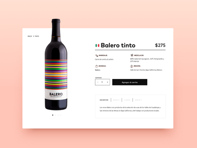 Product detail   E-commerce shopify single product shop pink clean card wine product card ecommerce