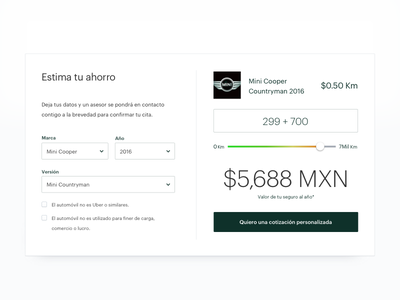 Pricing slider simple white sketch quoter pricing slider clean ui