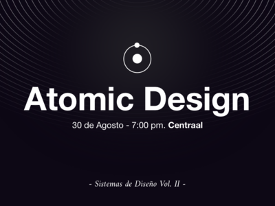 Atomic Design ⚛️- Sketch Meetup black  white ui atomic design mexico meet up sketch app