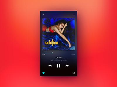 Tidal — Player 💽 concept ios tyrant kali uchis tidal dark uid music player