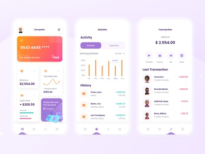 Dompetku Finance App banking uxdesign user finance app wallet bank statistics 3d uiux fintech chart money finance uidesign mobile ios exploration design clean app