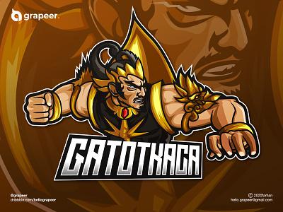 Gatot Kaca E-Sport / Mascot Logo mythology gatot kaca gatotkaca esport logo esport esportlogo mascotlogo mascot logodesign indonesia flat brand logos logo design logo brand identity branding illustration design adobe illustrator