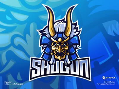 Shogun E-Sport / Mascot Logo Design Concept blue japan samurai shogun awesome logoideas logo logodesigner gaming gamelogo game teamlogo team mascotlogo mascot esportlogo esport adobeillustator adobe