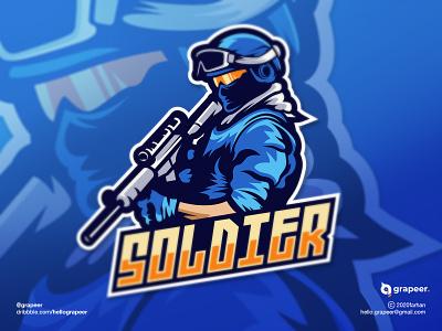 Soldier Mascot / Esport logo design concept inspiration soldiermascot soldier fpsgame streamer gamelogo mascot mascotlogo esportlogo esport teamlogo team gamer game illustrator adobe photoshop adobe illustrator adobe