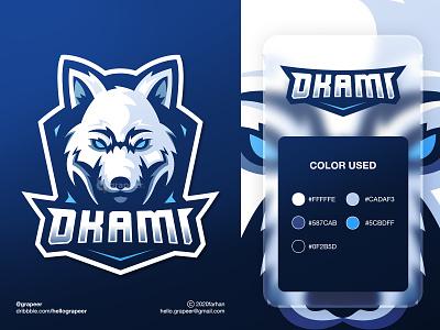 """Okami"" Esport/Team/Mascot Logo wolf logo wolf team logo teams teamlogo team esport logo esports esportlogo esport mascot mascot logo mascotlogos mascotlogo logodesigner logodesign logotype logo design logos logo"