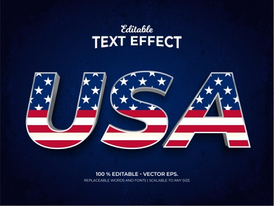 'USA' Textured 3d Style Editable Text Effects Template graphic design element country business eps vector adobe illustrator adobe 3d text 3d style editable text text style text design text effects template usa flag united states of america america usa