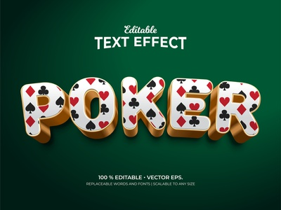 Poker Playing Card Symbol Pattern 3d Style Editable Text Effects graphic eps vector symbol element typography illustrator poker playing card background textutred 3d style 3d text pattern text design text effects editable text branding design adobe illustrator