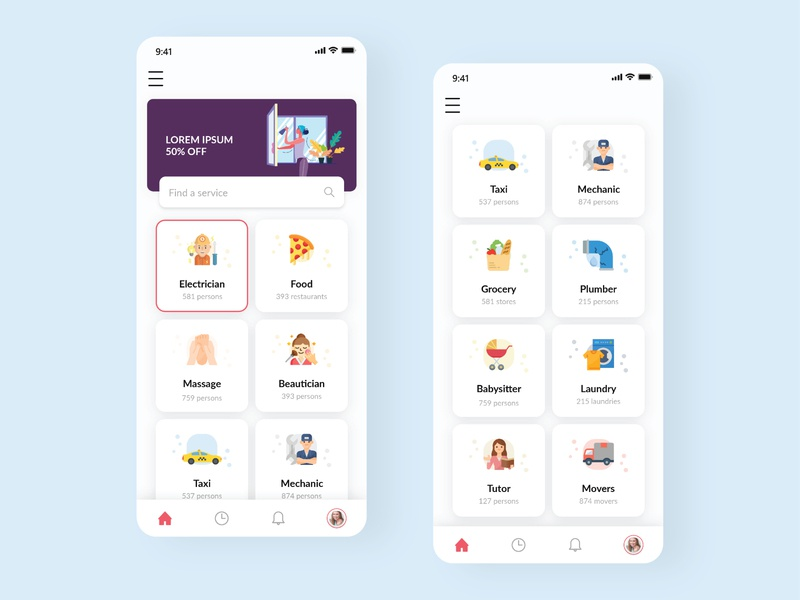 Service App Home Screen Ui uidesign home screen app design