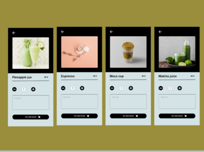 About drinks espresso matcha juice pineapple juice coffe juice about drinks about foods and drinks wireframe mobile app design design