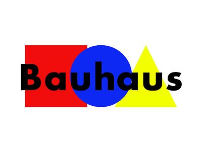 Bauhaus minimal design brand blue futura typography icon flat illustration vector branding postcard logo bauhaus