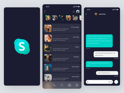 New Skype Idea ui design