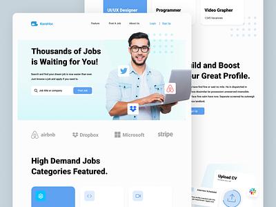Job Finding Landing Page