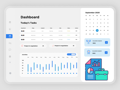Task Management Dashboard dashboard design