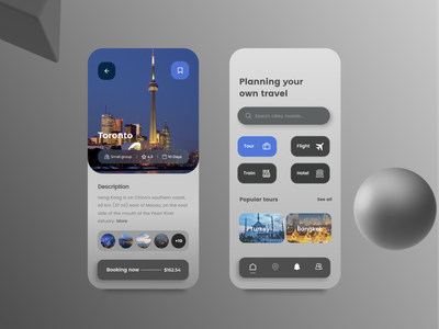 Traveling App Concept