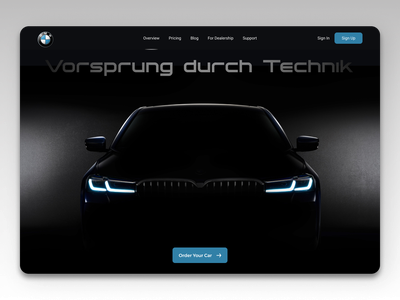 Car Landing Page Black Theme illustration logo branding ui design
