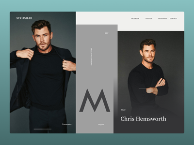 Clothing Brand Web Concept typography ux branding ui illustration design