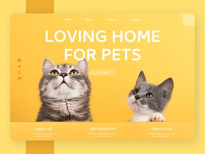 Pets Web Design ui design