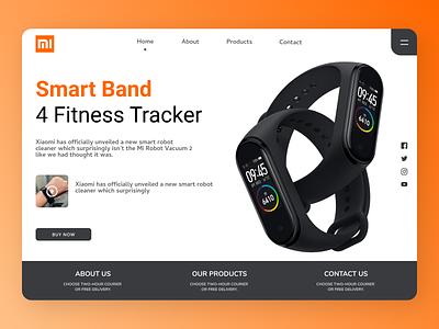Fitness Band Landing Page typography ux logo branding ui design
