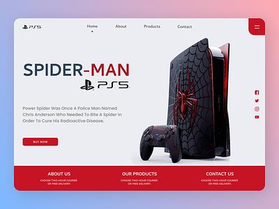 Spider PSP Landing Page typography ux logo ui design