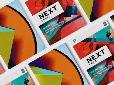 Magazine: Next Level spread print magazine