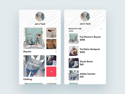 Yard page pattern bicycle yard mobile ios iphone